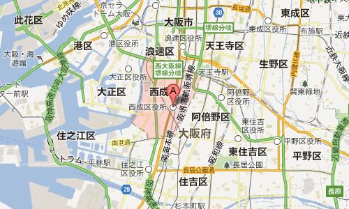 日本のスラム街の大阪の西成