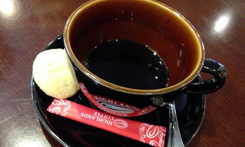 ハイランドコーヒーのホットが濃いすぎ