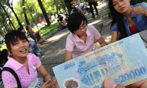 ベトナムのお金が桁が多い!